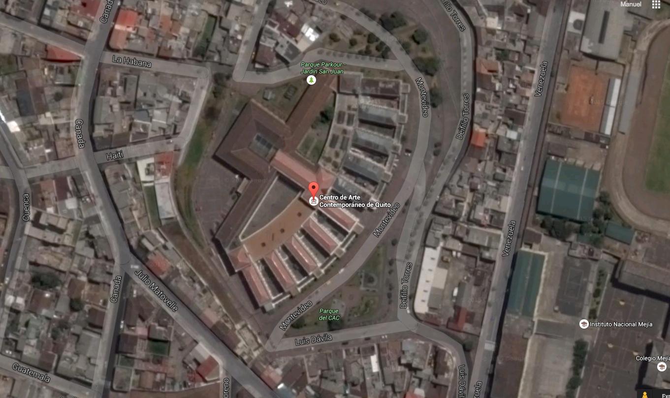 Vista satelital del lugar por donde pretenden entrar los honorables el 30 de enero.