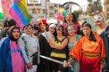 Colectivo Desbordes de Gener@ en el desfile del orgullo gay, Julio 2009. FOTO: Archivo del Colectivo